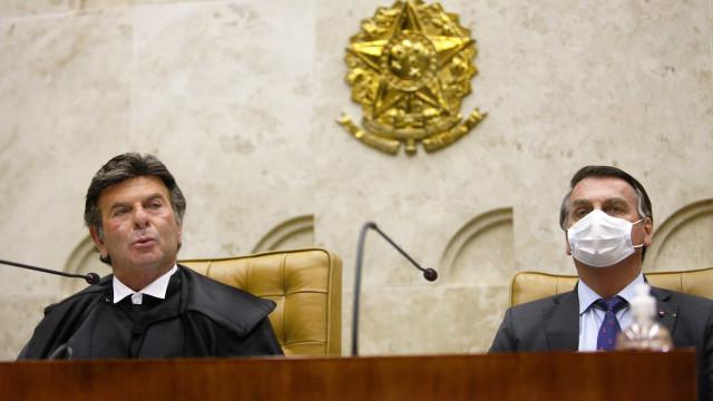 Em meio a crise no STF, Bolsonaro se encontra com Fux