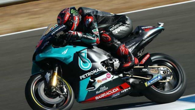 Quartararo supera Viñales, é o mais rápido em Aragão e conquista 2ª pole seguida