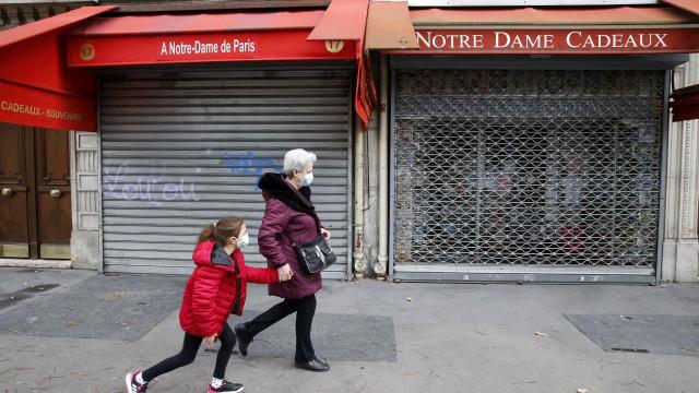 França com 165 óbitos e 41 mil casos num dia, quase o dobro da véspera
