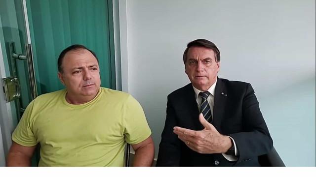 'Um manda, o outro obedece', diz Pazuello ao receber Bolsonaro após crise da vacina