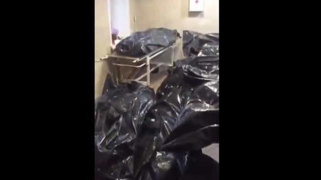 Vídeo mostra vítimas da Covid-19 empilhadas em necrotério na Rússia
