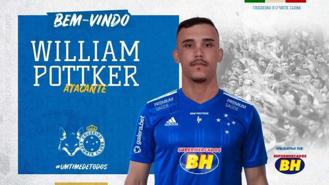 A pedido de Felipão, atacante William Pottker é o novo reforço do Cruzeiro