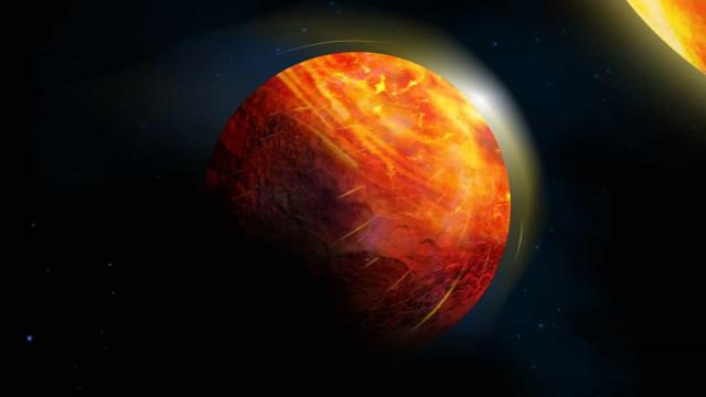 O planeta mais inóspito tem oceanos de lava e ventos cortantes