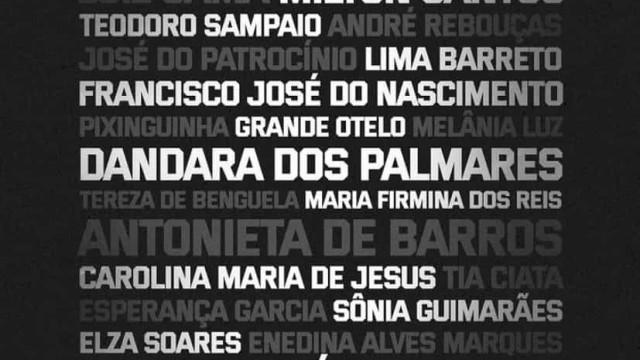 São Paulo homenageia grandes negros da história do Brasil nos uniformes