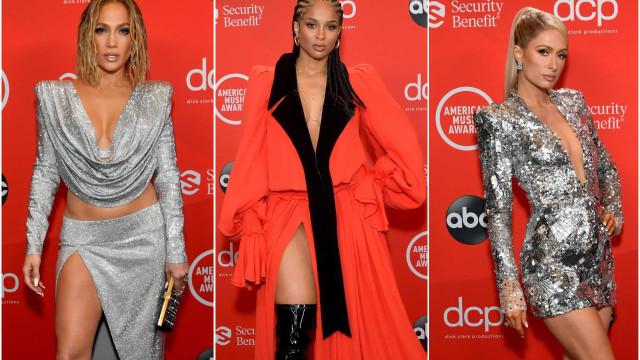 Brilho e escolhas arrojadas: Os melhores looks do American Music Awards