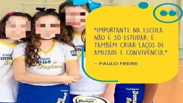 Família dá queixa na polícia contra escola que tapou foto de aluna negra em publicidade