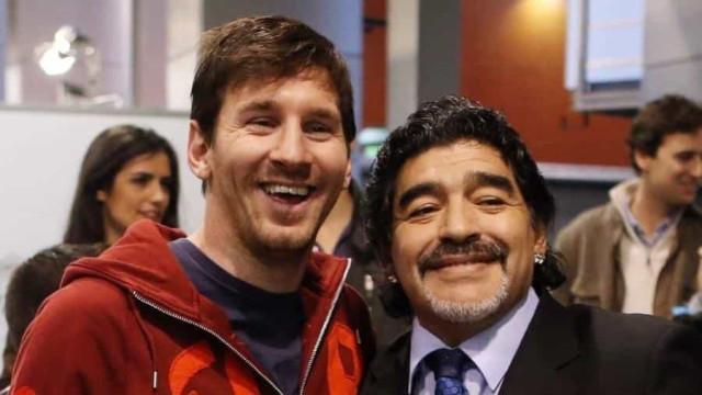 Maradona escolheu Messi para ser herdeiro como ídolo maior da seleção argentina