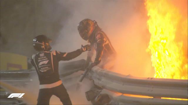 Halo reforçado e macacão mais eficiente ajudaram Grosjean a sobreviver à batida