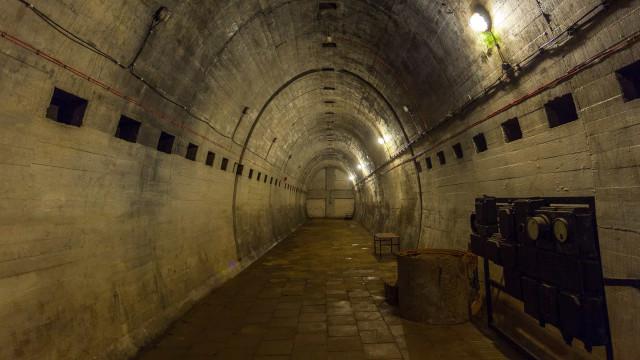 Os túneis nazistas escondidos onde hibernam morcegos