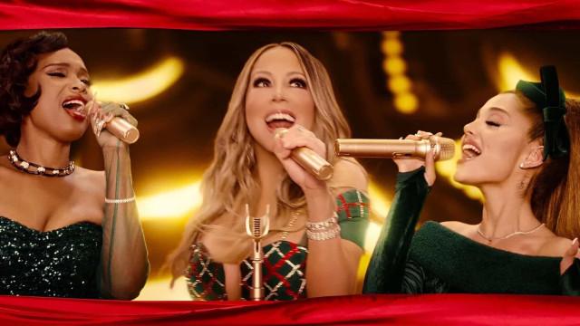 Mariah Carey lança novo hit de Natal com Ariana Grande e Jennifer Hudson