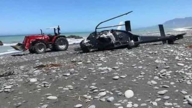 Pais morrem em queda de helicóptero quando levavam filhos para passeio
