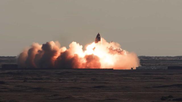 Vídeo mostra o teste 'explosivo' do novo foguete da SpaceX