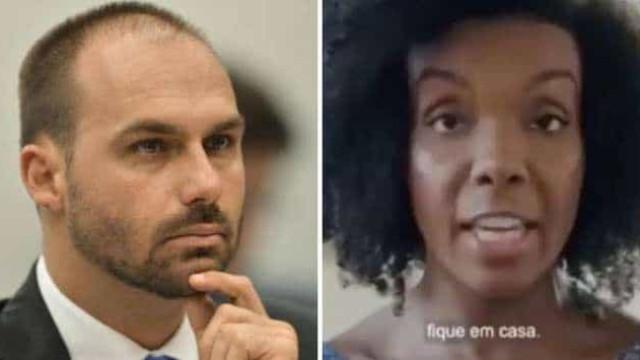 Thelma Assis, do BBB 20, tem pedido de liminar contra Eduardo Bolsonaro negado pela Justiça