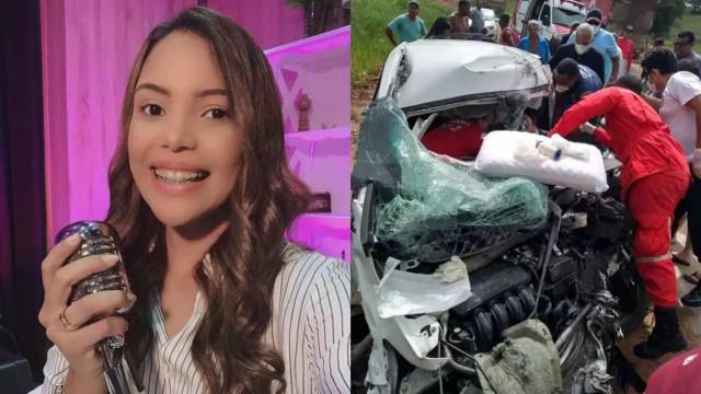 Cantora gospel Amanda Wanessa sofre acidente de carro e passa por duas cirurgias