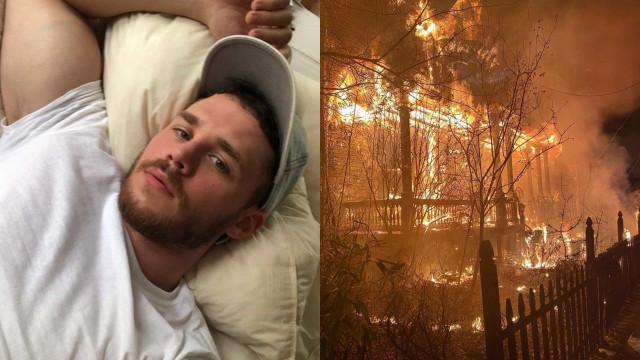 Ator Matthew Camp denuncia crime de ódio após ter casa incendiada
