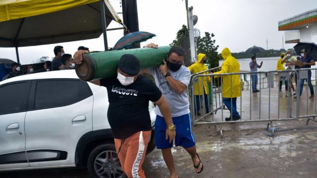 Força Nacional do SUS detectou oxigênio na reserva, leitos fechados por falta do insumo e previu colapso