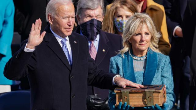 Joe Biden toma posse como 46º presidente dos Estados Unidos
