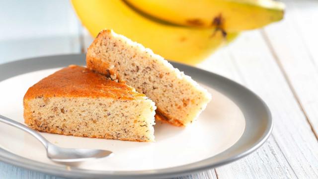 Este bolo de banana light não estraga a dieta