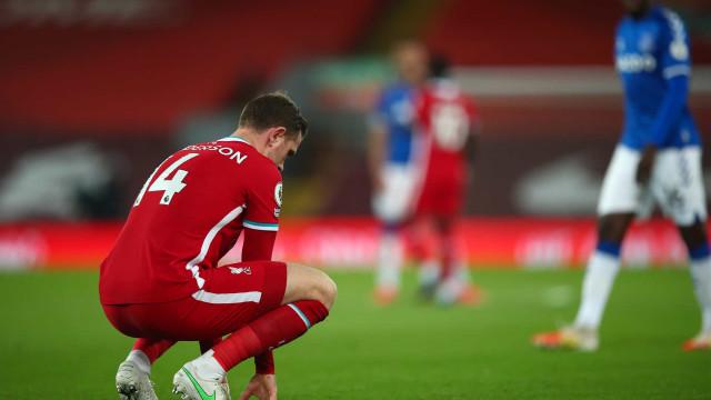 Liverpool bate Aston Villa com gol nos fim e encerra série negativa em casa