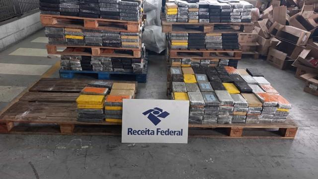 Receita Federal apreende 1.788 kg de cocaína no Porto de Santos