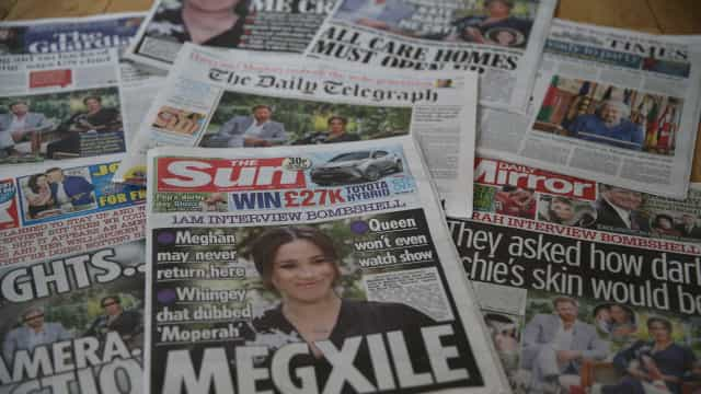 Tabloides britânicos ironizam e apontam contradições de entrevista de Meghan e Harry