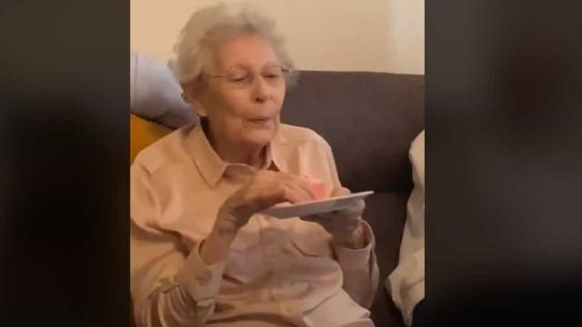 O desejo de uma idosa em seu aniversário deixou família sem palavras