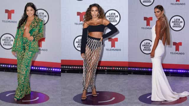 Sensualidade e irreverência na red carpet dos Latin America Music Awards
