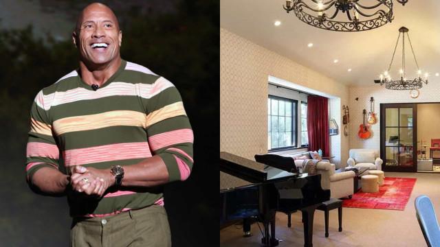 Entre dentro da nova mansão de Dwayne Johnson em Beverly Hills