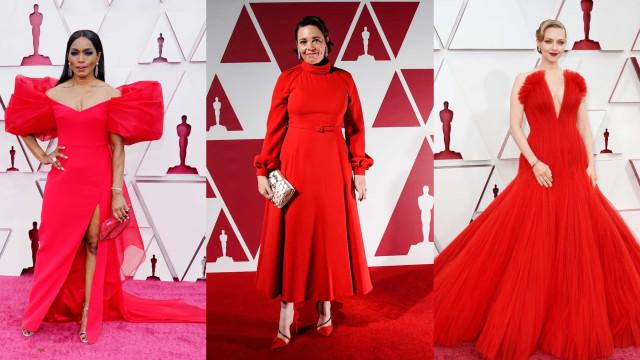 Oscar 2021: Um Red Carpet dominado pelo... vermelho