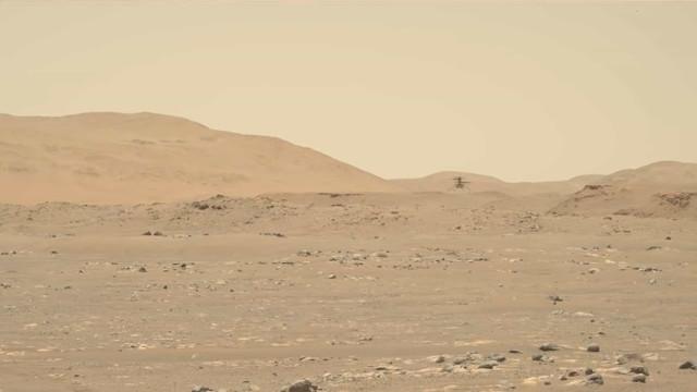 NASA compartilha vídeo do terceiro voo do Ingenuity