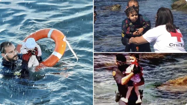 'Era uma maré humana', diz mergulhador que salvou bebê no Mediterrâneo