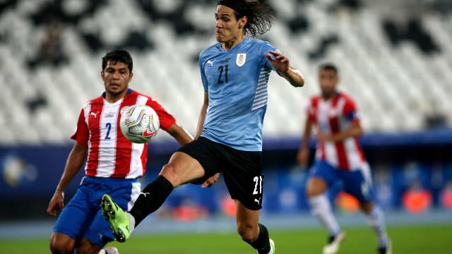 Copa América: Cavani garante vitória do Uruguai sobre Paraguai