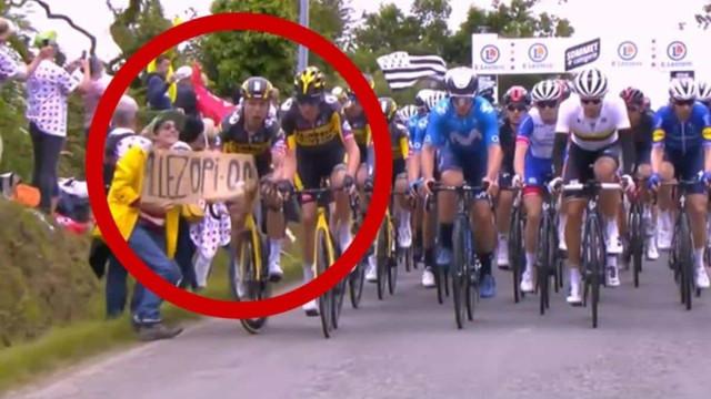Espectadora que causou grave acidente em etapa da Volta da França é presa