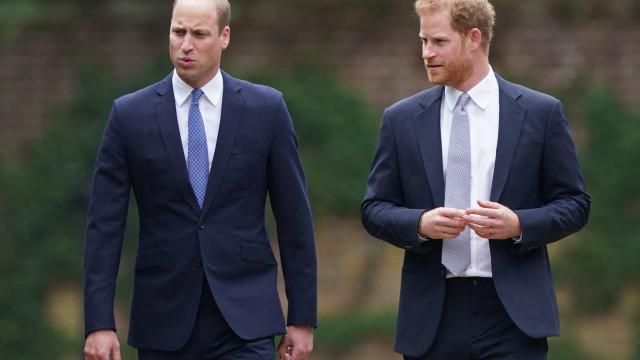 Harry e William põem diferenças de lado e voltam a se aproximar