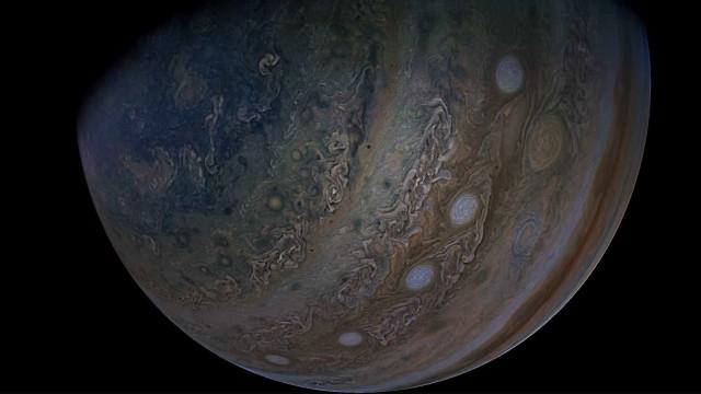 Vídeo da NASA mostra beleza de Júpiter e da lua Ganimedes