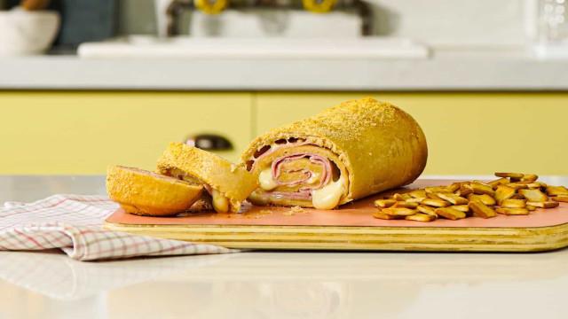 Veja como fazer Pão de Presunto e Queijo para o lanche da tarde