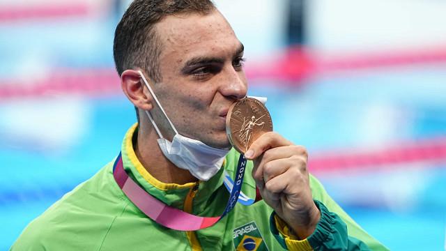 Fernando Scheffer é bronze nos 200 m livre, 1ª medalha do Brasil na natação