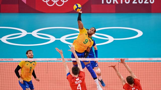 Vôlei masculino cai contra os russos por 3 a 0 e perde pela 1ª vez na Olimpíada