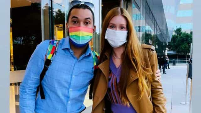 Marina Ruy Barbosa encontra Gil do Vigor: 'Muito feliz de te conhecer'