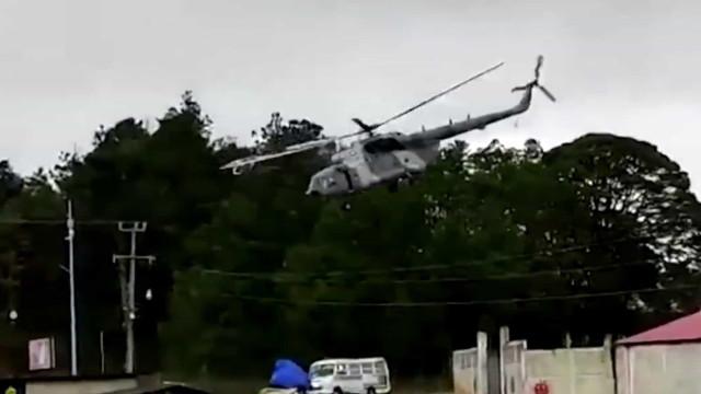 Helicóptero militar mexicano cai na Guatemala. Governante a bordo