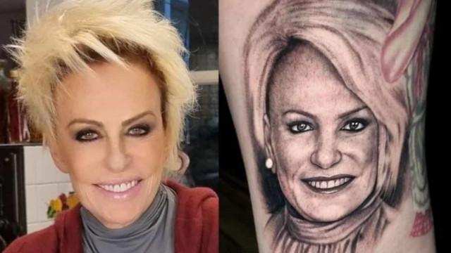 Fã tatua o rosto de Ana Maria Braga na coxa