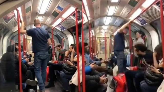 Homem tenta atacar jovem asiática no metrô e é agredido por passageiros