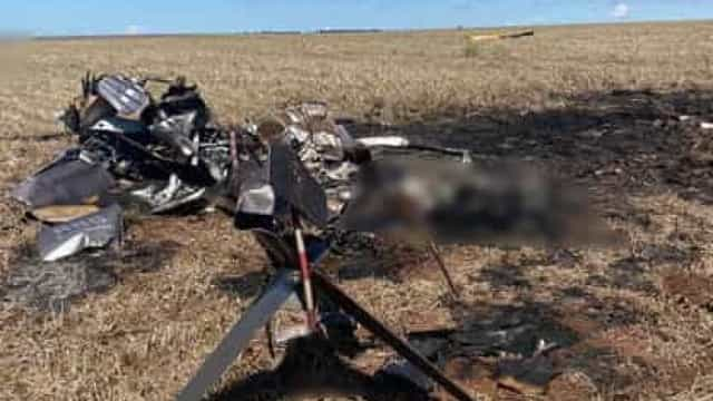Helicóptero com 300 kg de cocaína cai e mata ocupantes na fronteira com Paraguai