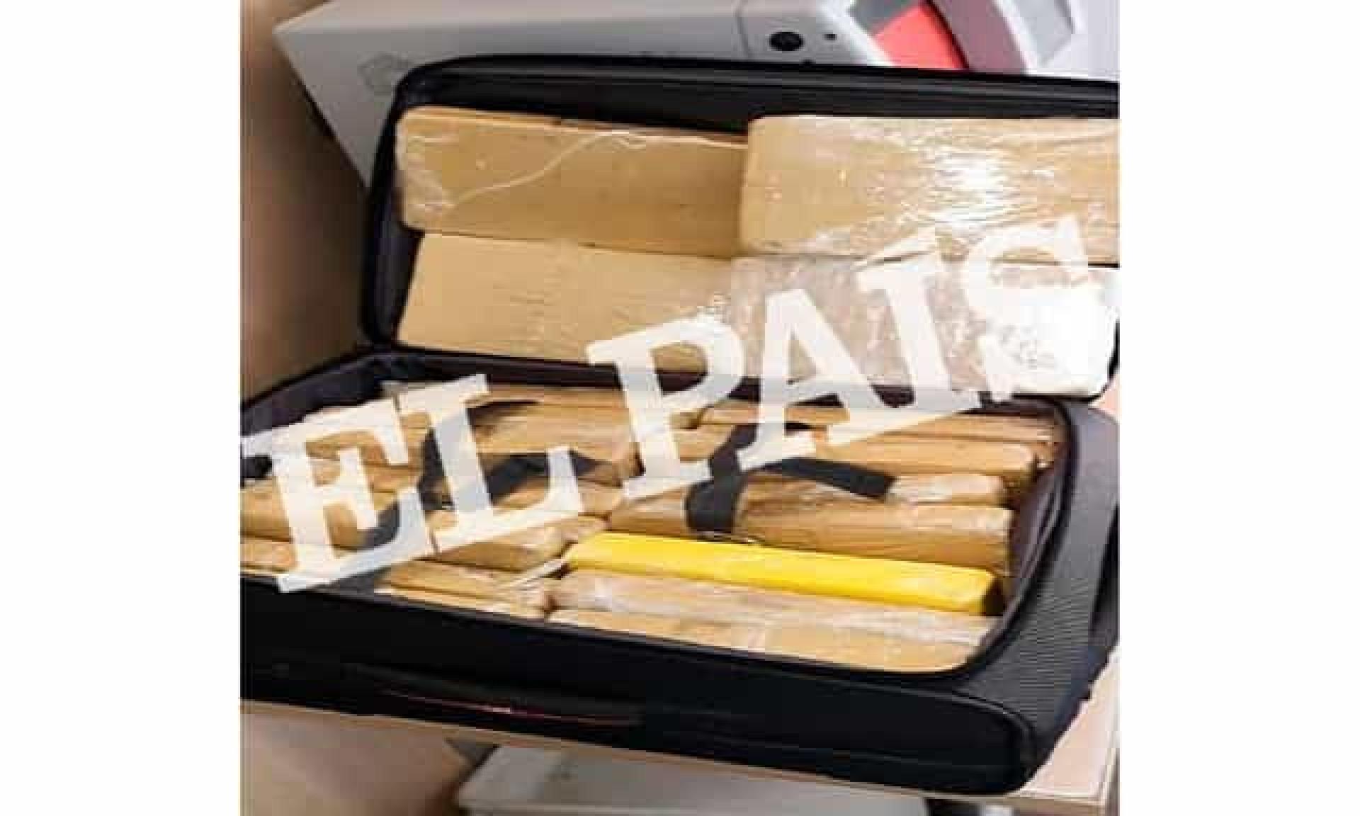 Foto mostra cocaína apreendida com militar brasileiro na Espanha