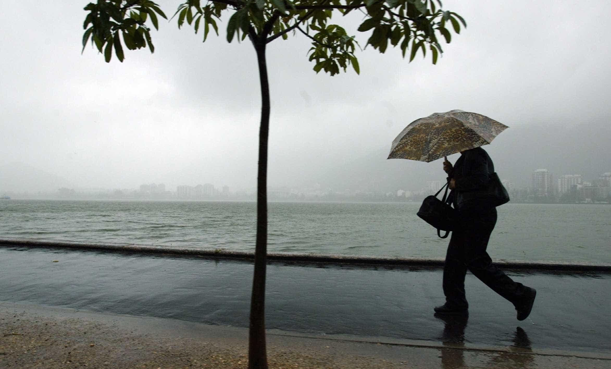 Chuva provoca deslizamentos no Rio; jacaré é visto em rua da cidade