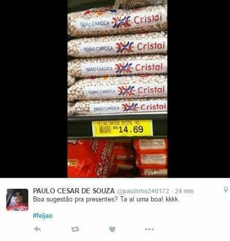 A alta no preço do feijão; veja memes