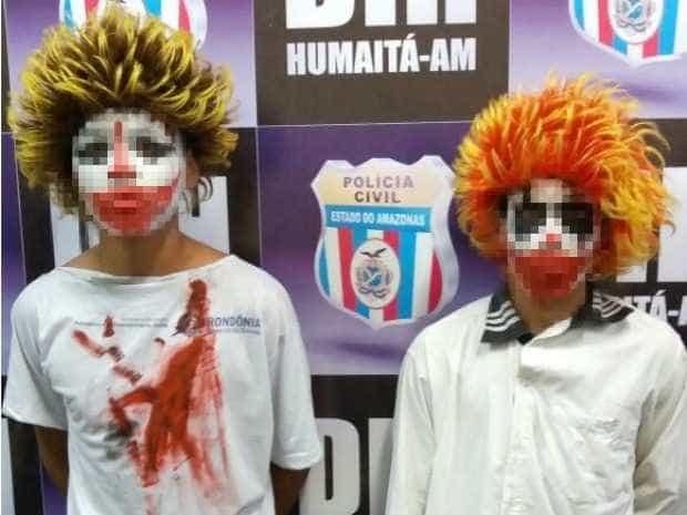 Dupla vestida de palhaço aterroriza  moradores de Humaitá (AM)