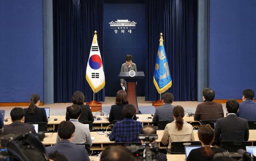 Presidente da Coreia do Sul afirmou que pode entregar o cargo