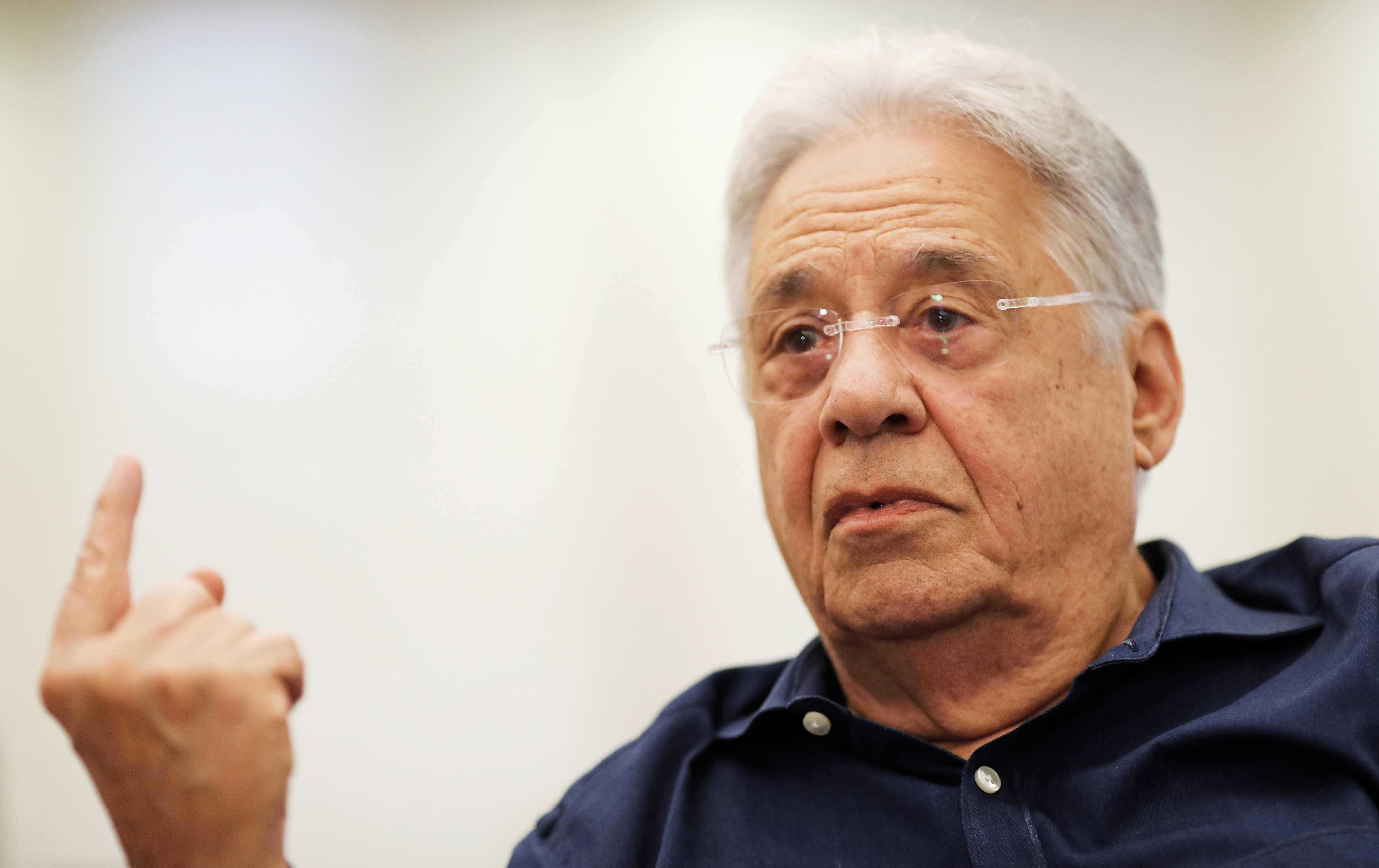 FHC reafirma que não vota em Bolsonaro: 'Dei as razões'