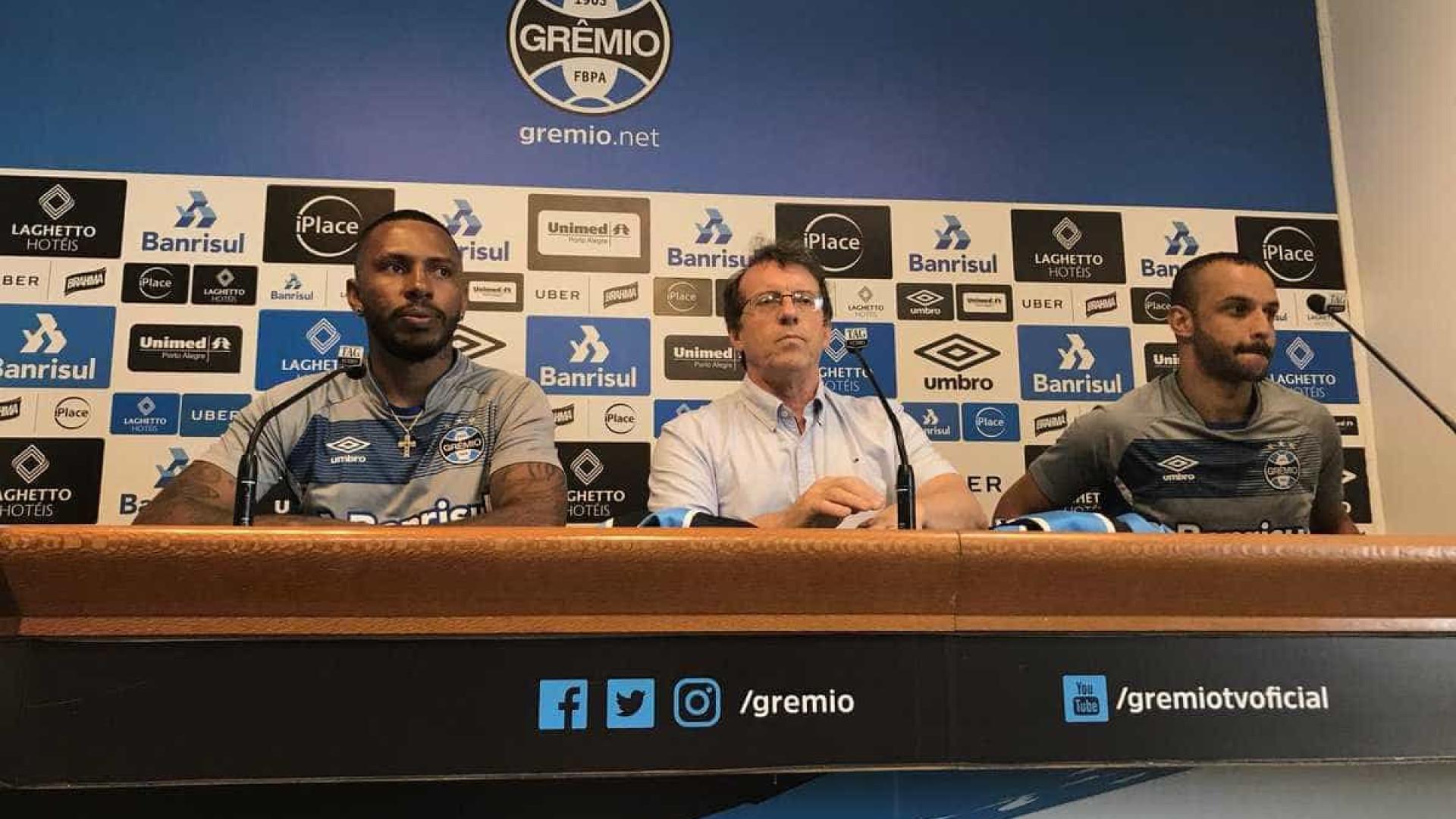 Paulo Miranda comete gafe e chama Grêmio de  Inter  em apresentação 8f4f36d8e15a